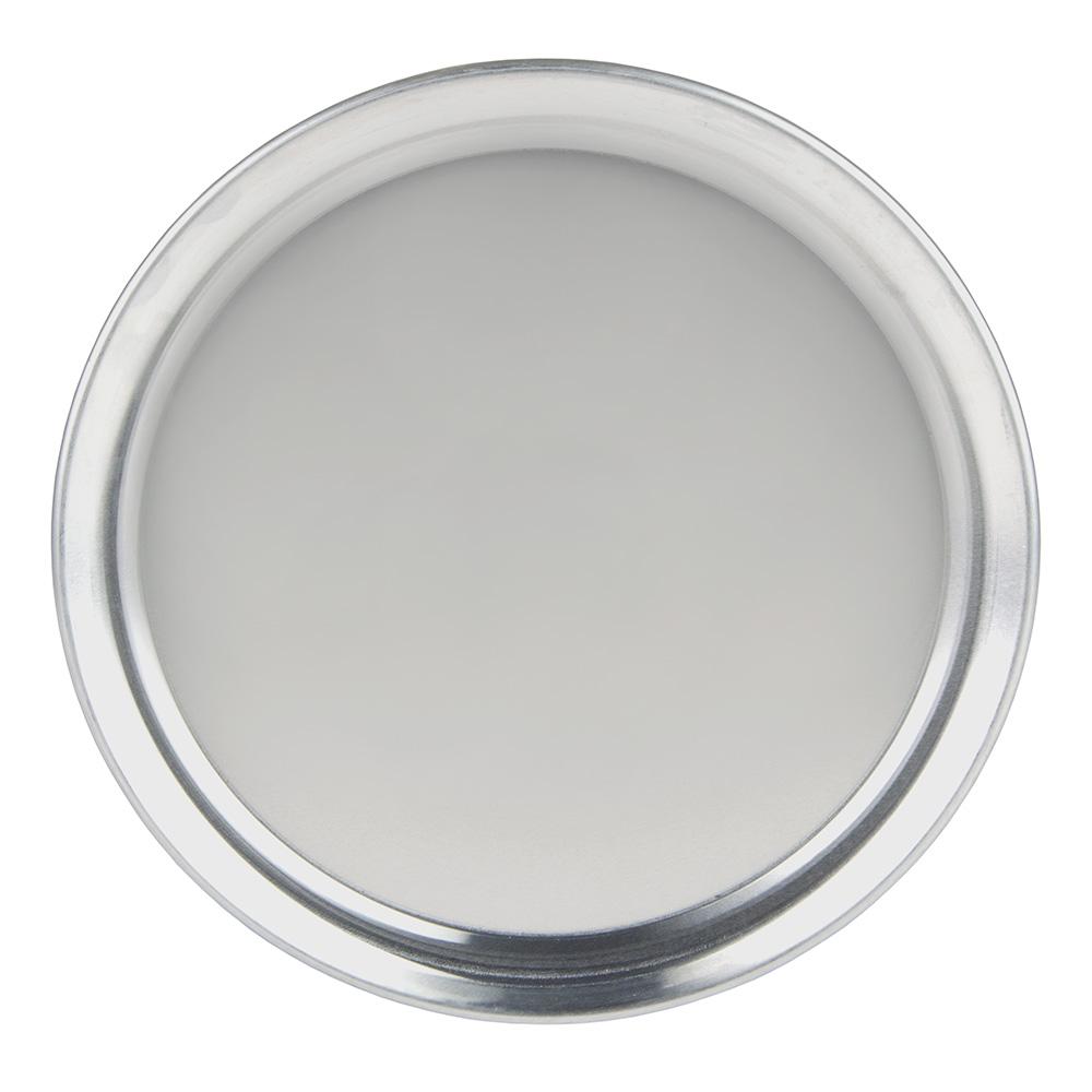 "Update PT-WR9 9"" Wide Rim Pizza Tray - Aluminum"