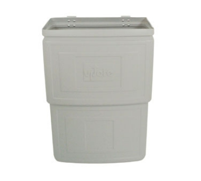 "Update International RB-168N Refuse Box - 15-1/2x8-1/4x22"" Plastic, Gray"