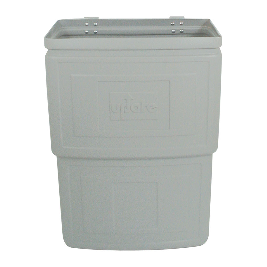 "Update RB-168N Refuse Box - 15-1/2x8-1/4x22"" Plastic, Gray"