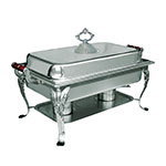 Update RC-20 8-qt Royal Oblong Chafer - Lift-Off Cover, Wood Handles, Stainless