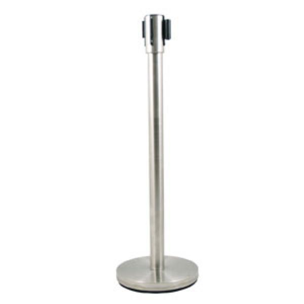 "Update RS-36SS 36"" Crowd Guidance System - 6-1/2' Retractable Belt, 12"" Base, Stainless"