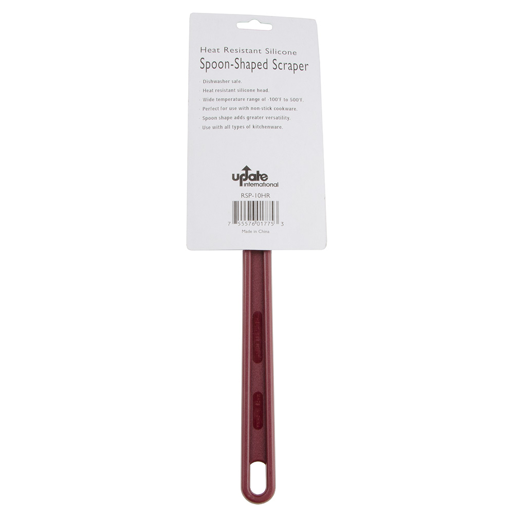 "Update RSP-10HR 10"" Spatula - Silicone, Red"