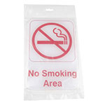 "Update International S69-12RD No Smoking Area"" Sign - 6x9"" Red on White"