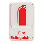"Update International S69-6RD Fire Extinguisher"" Sign - 6x9"" Red on White"