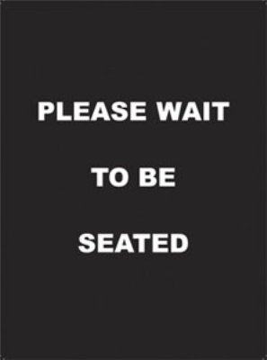 Update International S811-02 Sign Please Wait to Be Seated 11.5 x 8.5 in Restaurant Supply