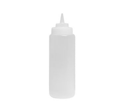 Update International SBC-16W 16-oz Wide Mouth Squeeze Bottle - 6-Pack, Clear