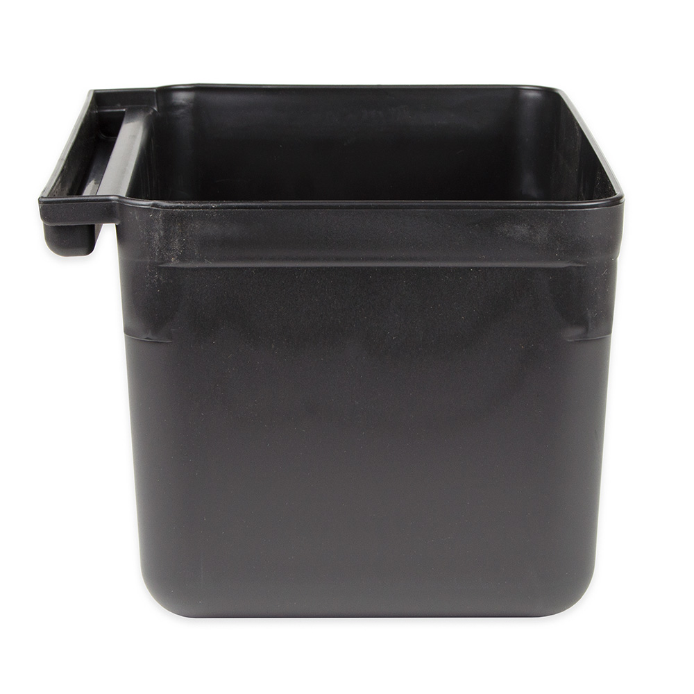 "Update SB-7BK Silverware Bin - 13x7x9"" Heavy-Duty Plastic, Gloss Black"