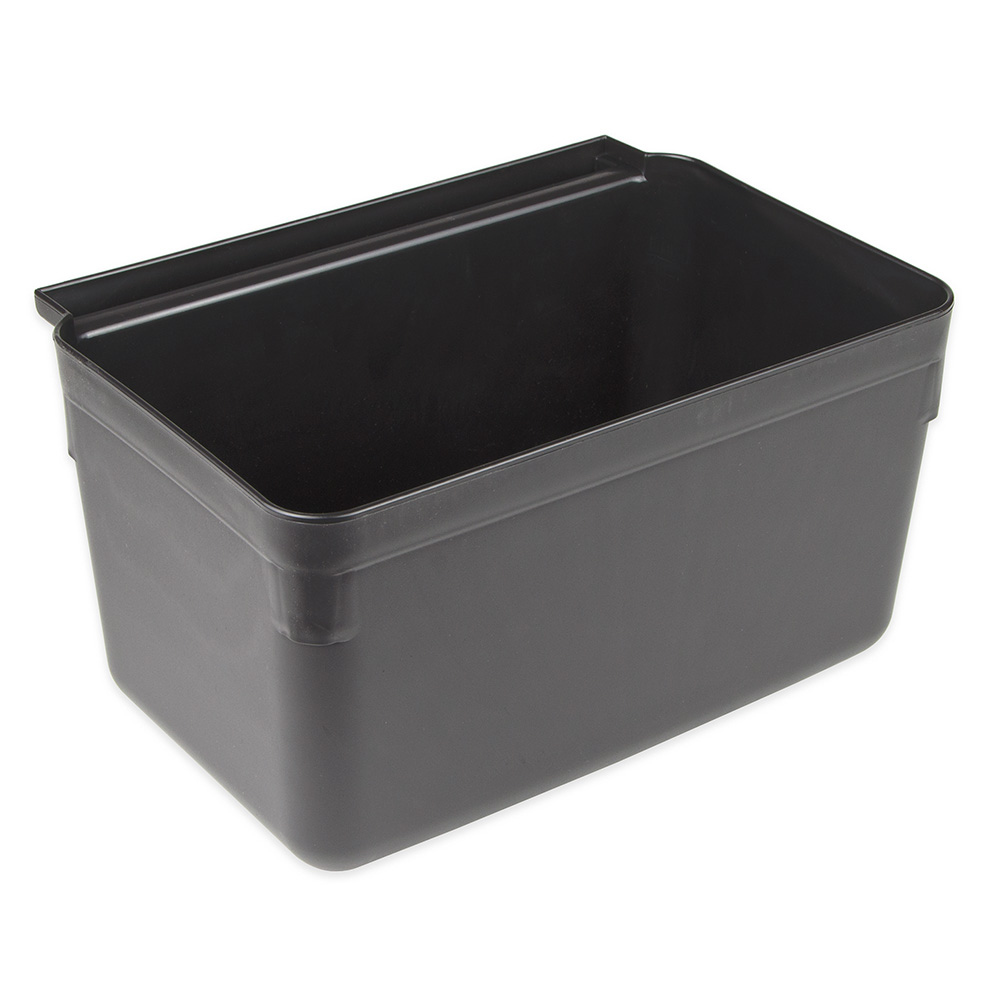 "Update International SB-7BK Silverware Bin - 13x7x9"" Heavy-Duty Plastic, Gloss Black"