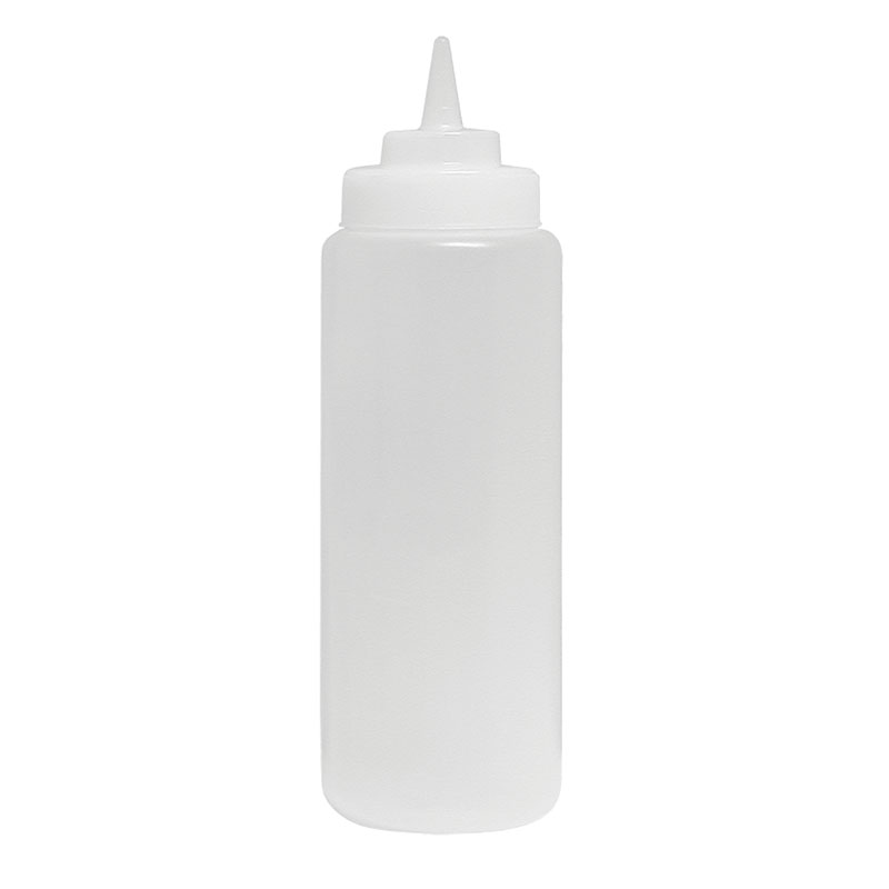 Update SBC-24W 24-oz Wide Mouth Squeeze Bottle - 6-pack, Clear