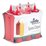 Update SBR-12 12-oz Squeeze Bottle - 6-Pack, Red