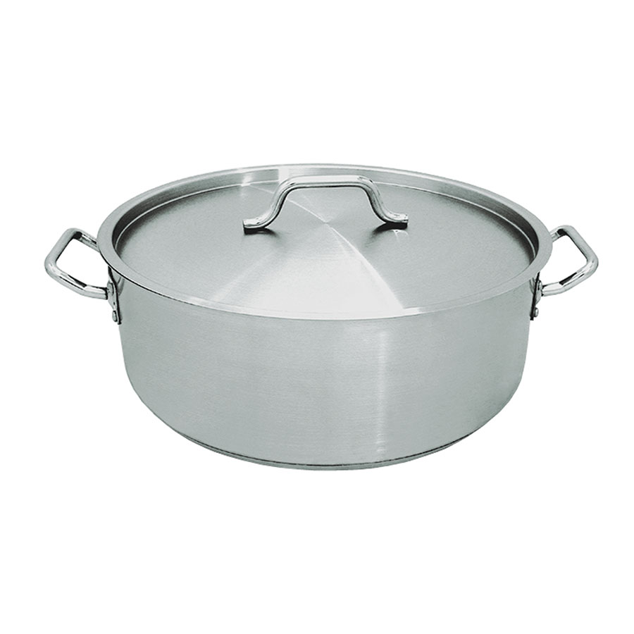 Update International SBR-30 30-qt Induction Brazier with Cover - Heavy-Duty Stainless