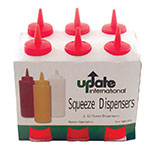 Update SBR-16W 16-oz Wide Mouth Squeeze Bottle - 6-Pack, Red