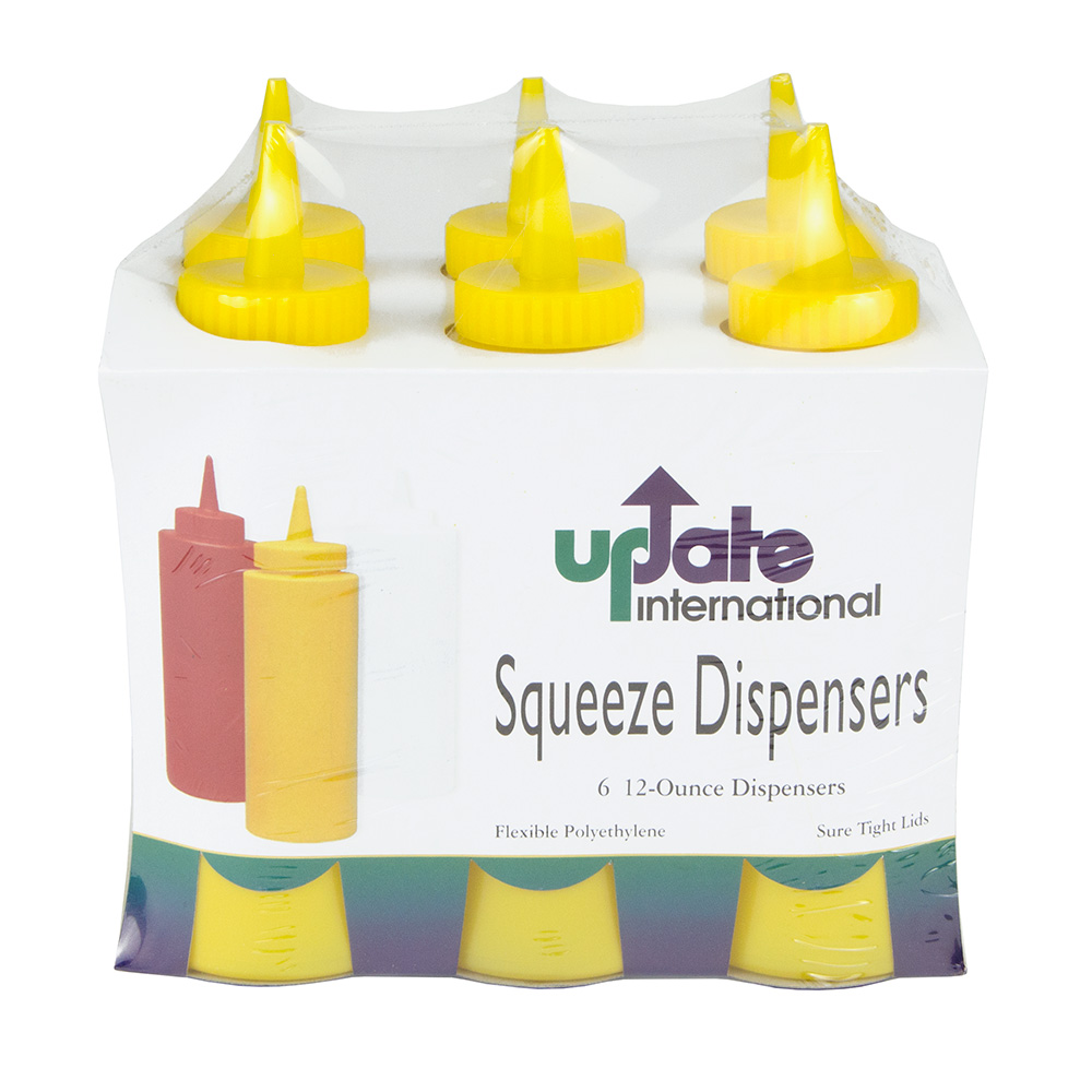 Update SBY-12 12-oz Squeeze Bottle - 6-Pack, Yellow