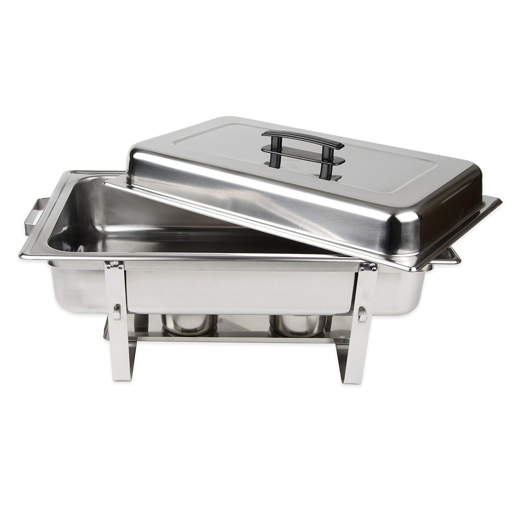 Update SCC-16P Full-Size Rectangular Chafer - Stackable, Mirror-Finish