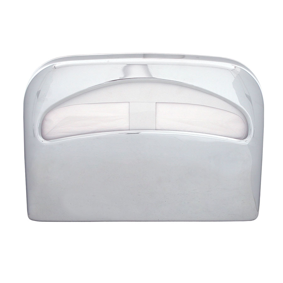 Update International SCD-50CH Half-Fold Toilet Seat Cover Dispenser - Chrome