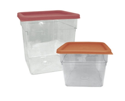 Update International SCQ-18PC 18-qt Square Storage Container - Polycarbonate