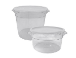 Update International SCR-8PC 8-qt Round Storage Container - Polycarbonate