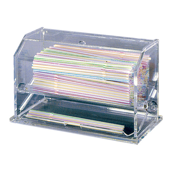 "Update SD-AC Straw Dispenser - 11x5-1/2x6-3/4"" Clear Acrylic"
