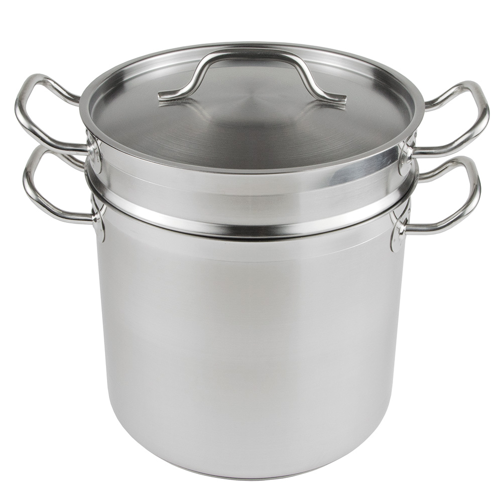 "Update SDB-12 11"" Stainless Steel Double Boiler w/ 12-qt Capacity"