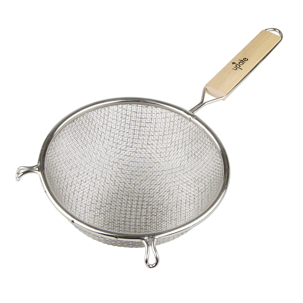 "Update International SDM-8/SS 8"" Medium Mesh Double Strainer - Stainless"