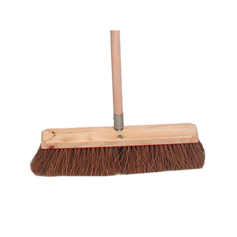 "Update SFB-18P 18"" Palmyra Push Broom - Hardwood Block"