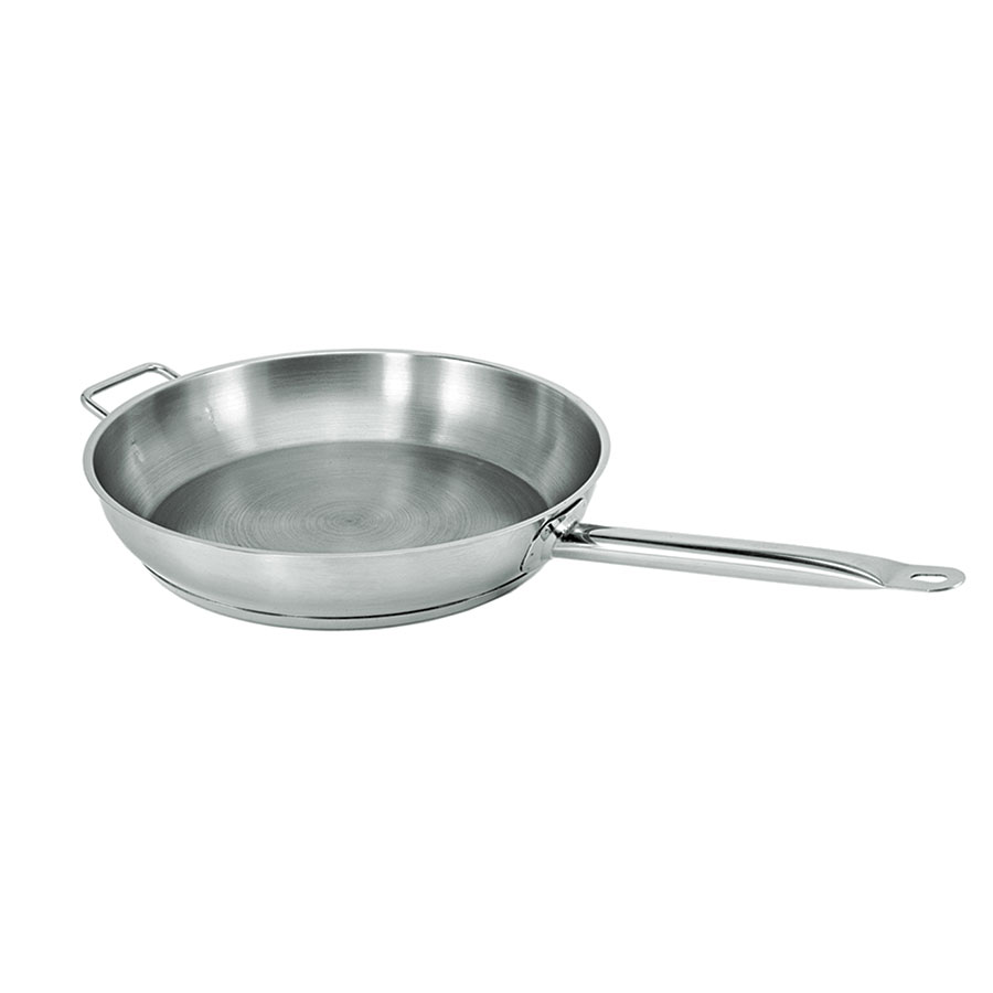 "Update International SFP-14 14"" SuperSteel Induction Fry Pan - 18/8 Stainless"