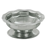 Update SH-35 3-1/2-oz Footed Sherbet Dish - Scalloped Top, Stainless