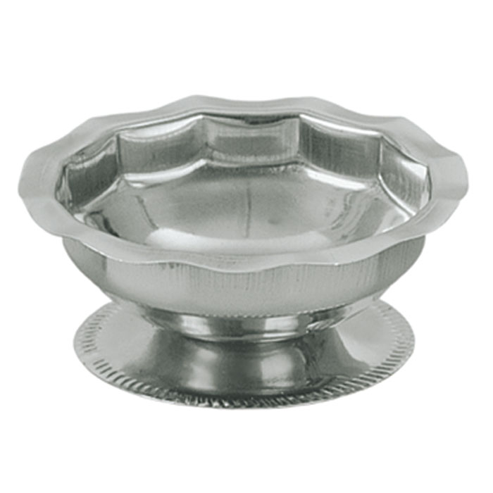 Update SH-50 5-oz Footed Sherbet Dish - Scalloped Top, Stainless