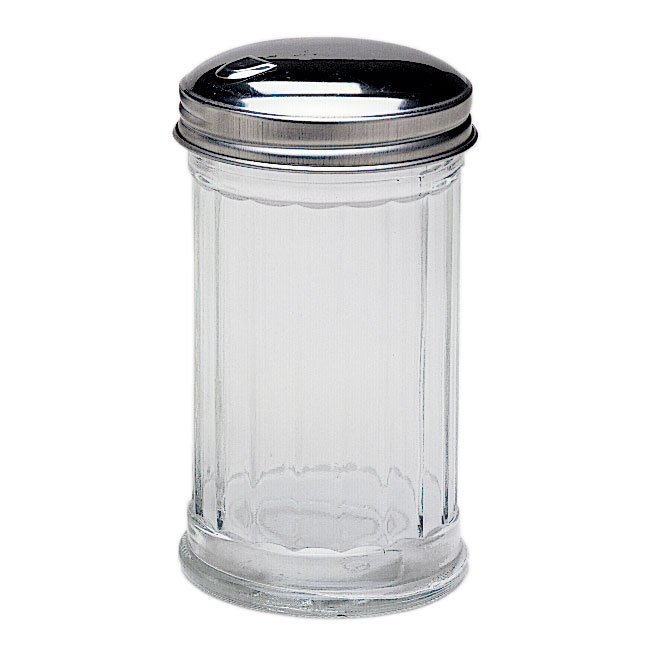 Update SK-FFL 12-oz Sugar Jar - Flap Top, Glass/Chrome
