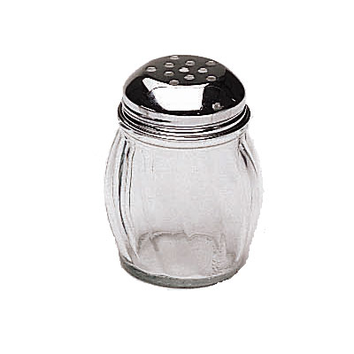 Update SK-RPF 6-oz Swirl Shaker - Perforated Top, Glass/Chrome