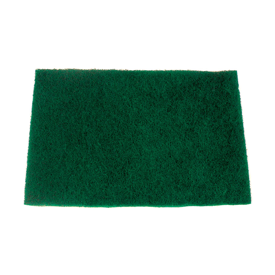 "Update SP-69HD Heavy-Duty Scouring Pad - 6 x 9"" Green"