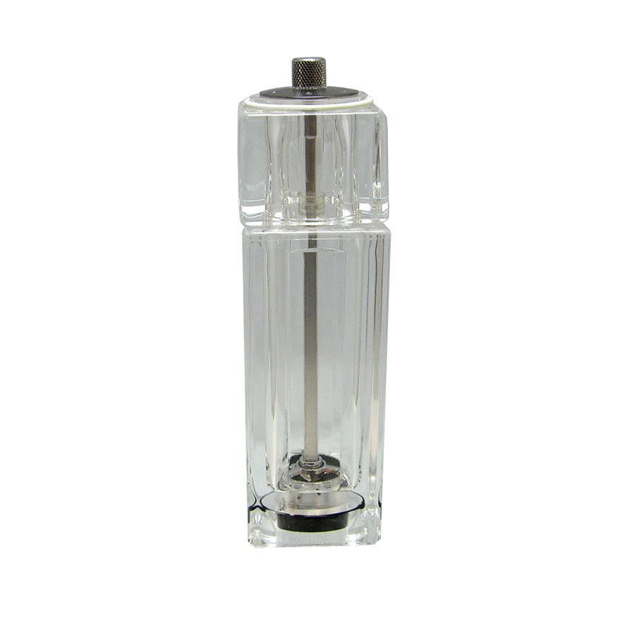 "Update International SPM-AC 6-1/4"" Salt/Pepper Mill - Clear Acrylic"