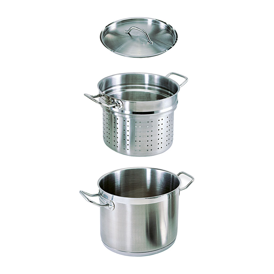 Update SPSA-20 20-qt SuperSteel Induction Pasta Cooker Set - Stainless