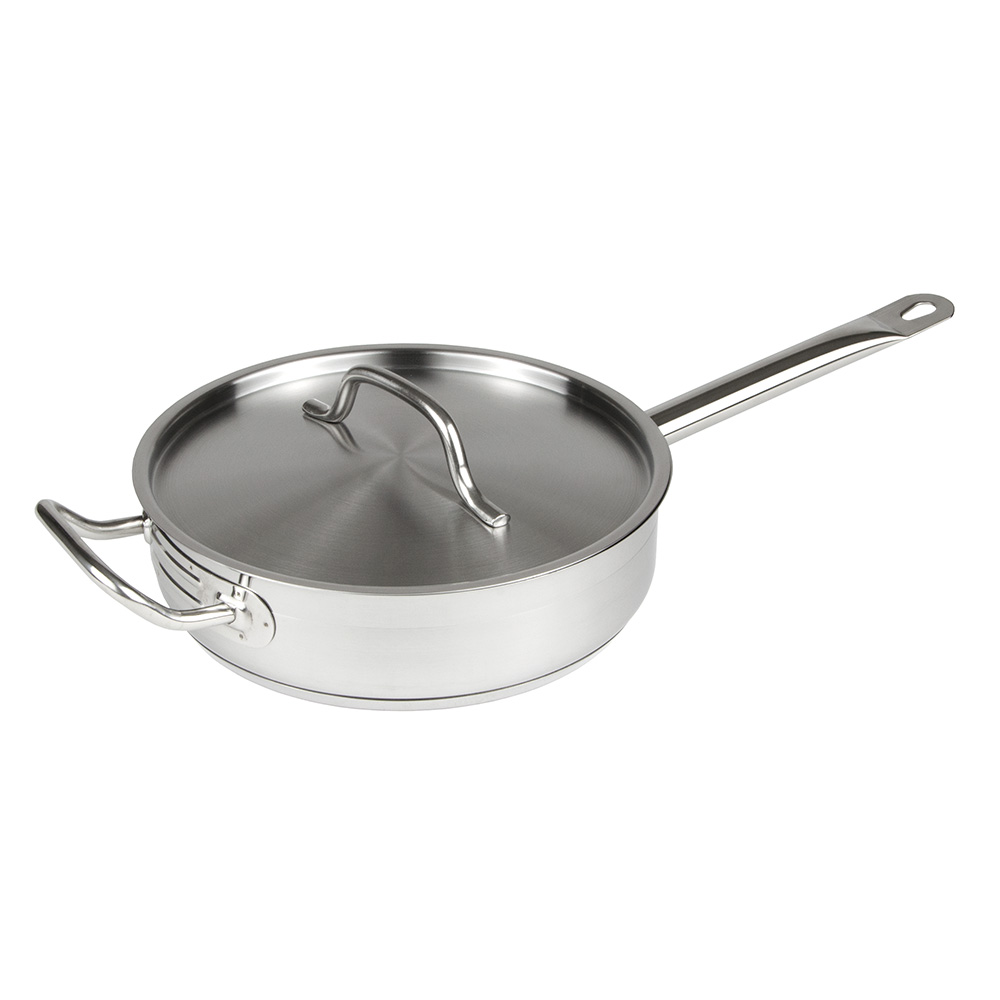 Update International SSAU-7 7-qt SuperSteel Induction Saute Pan with Cover - Stainless