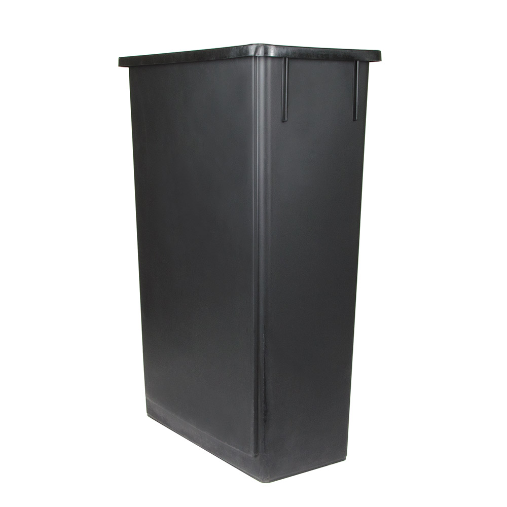 "Update SSC-23BK 23-gal Rectangle Slim Trash Can, 20.13""L x 11.13""W x 29.5""H, Black"