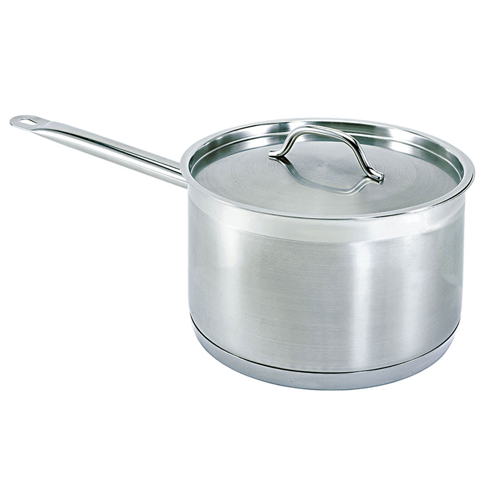 Update International SSP-6 6 qt Induction Ready SuperSteel Sauce Pan with Cover Restaurant Supply