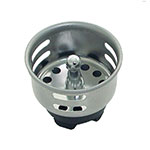 "Update SSTR-15 1-1/2"" Bar Sink Strainer - Stainless"