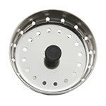 "Update SSTR-30 3"" Bar Sink Strainer - Stainless"