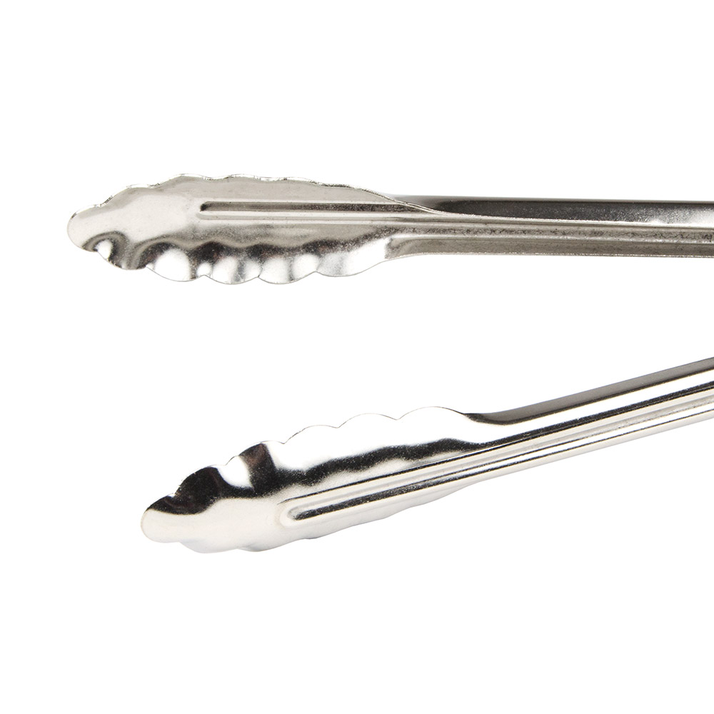 "Update ST-12HD/CS 12"" Heavy-Duty Tongs - Coiled Spring, Stainless"