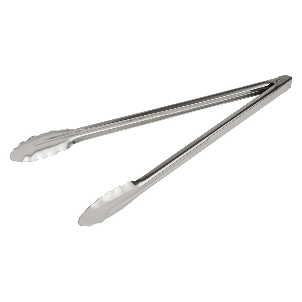 "Update ST-16XH/CS 16"" Extra Heavy Tongs - Coiled Spring, Stainless"