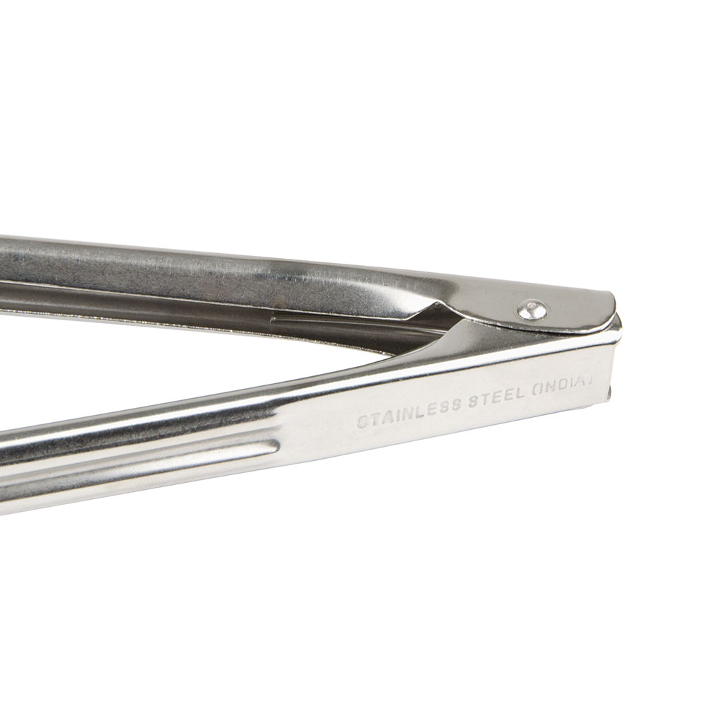 """Update ST-7 7"""" Scalloped Spring Tongs - Stainless"""