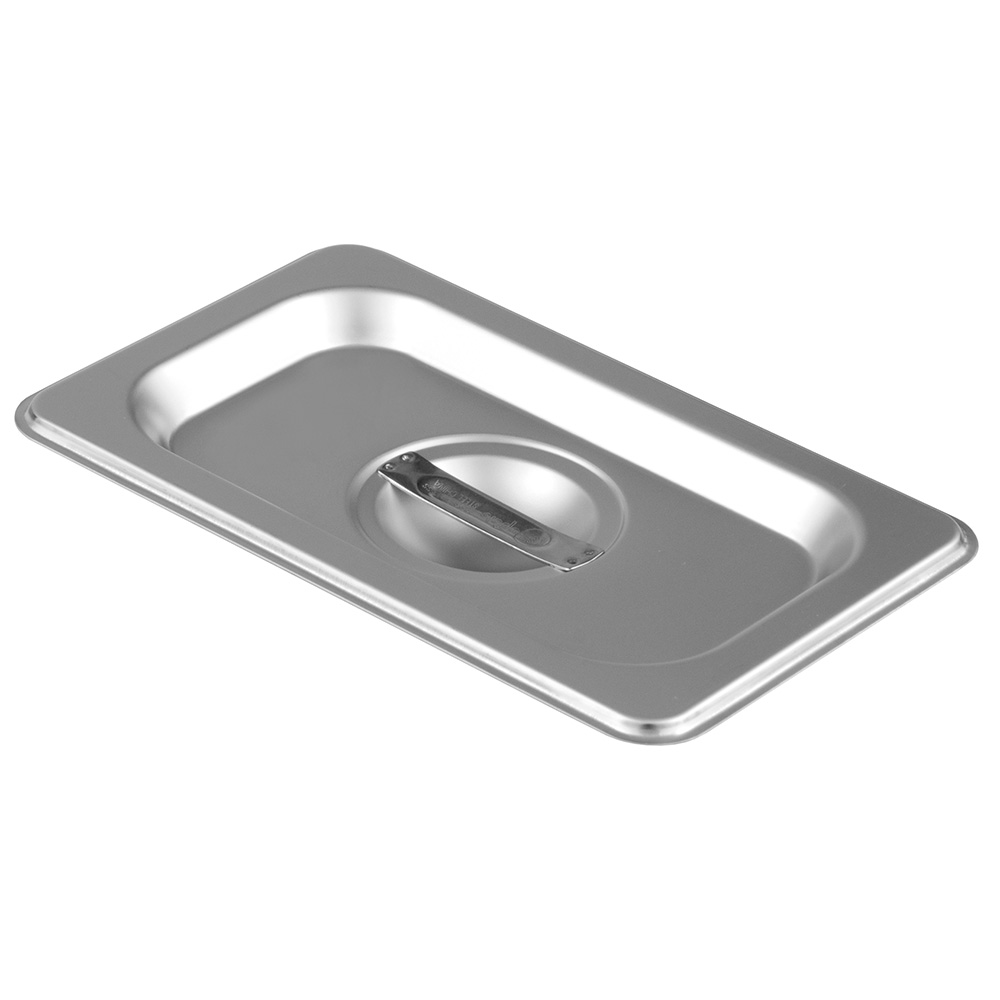 Update International STP-11LDC Ninth Size Solid with Handle Stainless Steel Steam Pan Cover Restaurant Supply