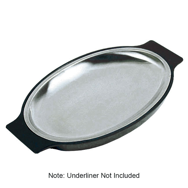 Update International SZP-11 Stainless Sizzle Platter - 11-5/8x8