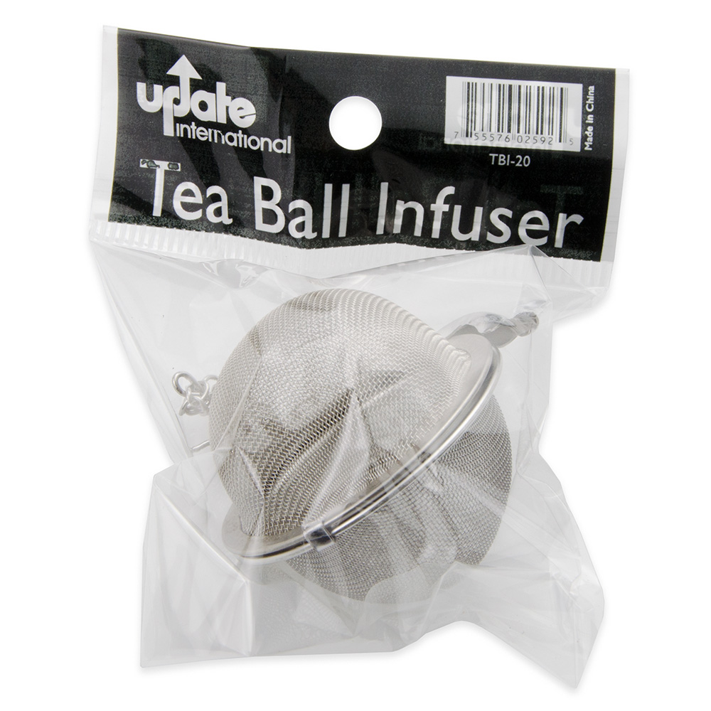 "Update TBI-20 2"" Tea Ball Infuser - Stainless"