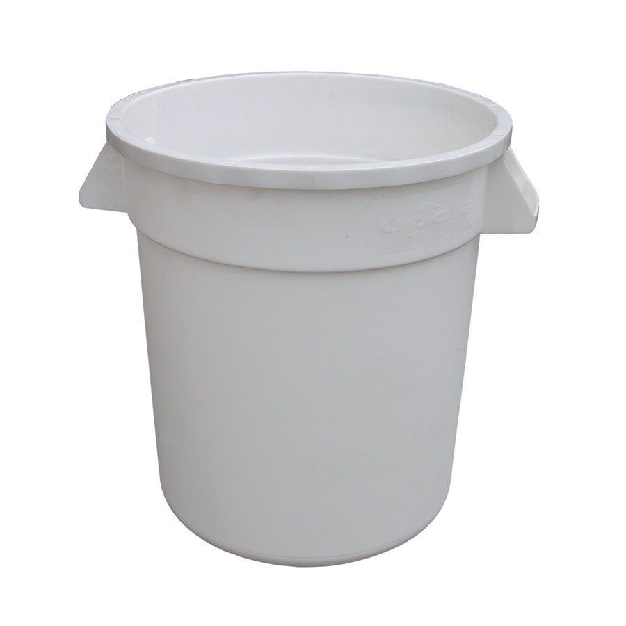 Update TC-10W 10-gallon Commercial Trash Can - Plastic, Round, Built-in Handles