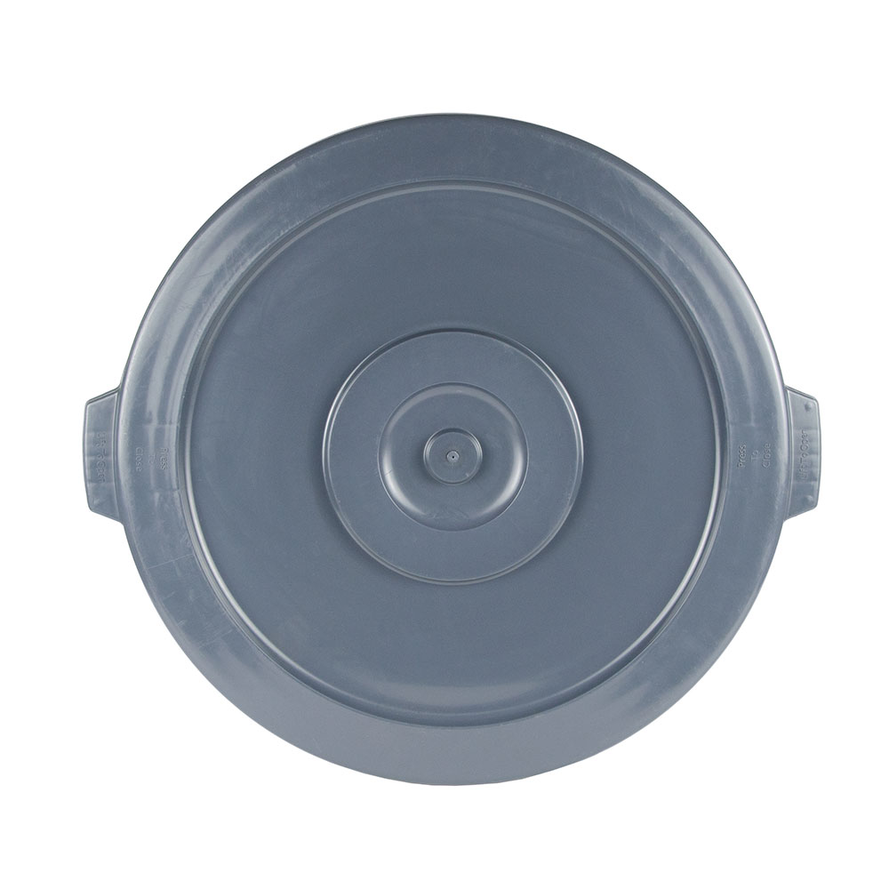 Update TCL-44G Round Flat Top Trash Can Lid - Plastic, Gray