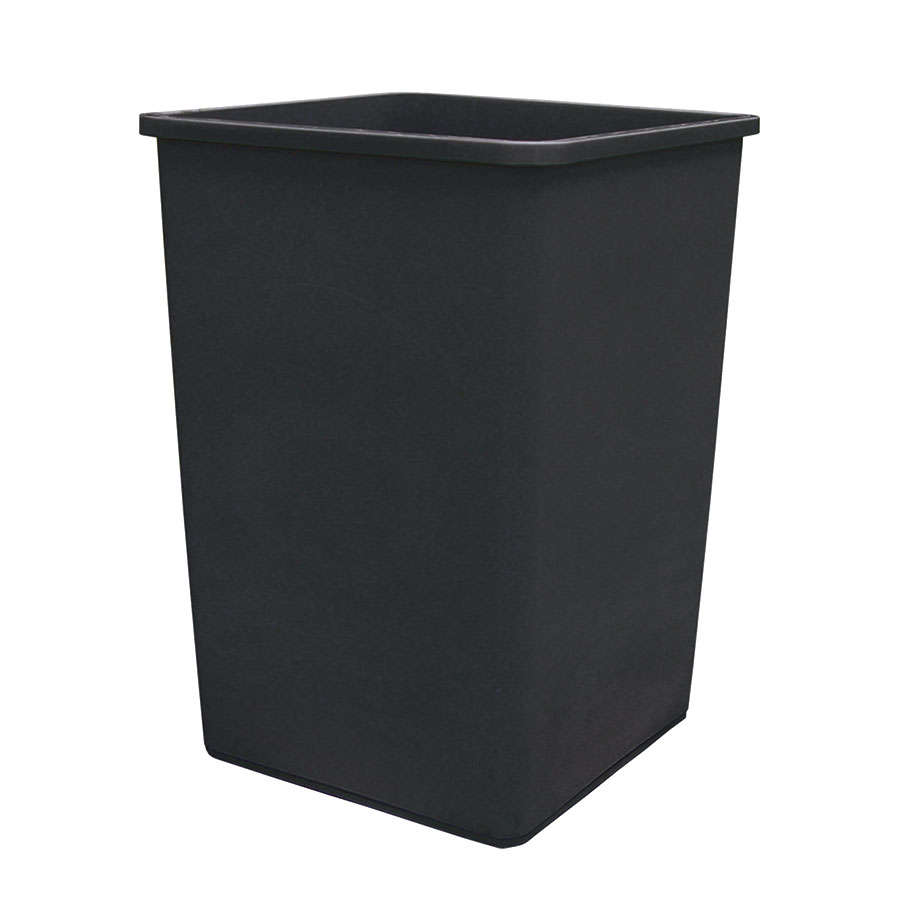 Update International TCSQ-35B 35-gal Trash Can - Black