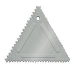 Update International TDC-AL Triangular Cake Decorating Comb - Aluminum