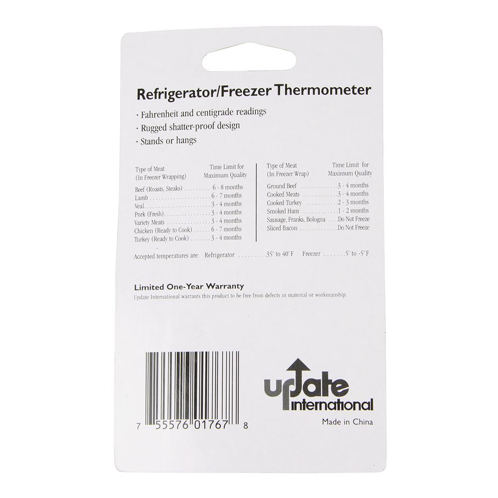 "Update THRE-45L 3-3/4"" Liquid Refrigerator Thermometer"