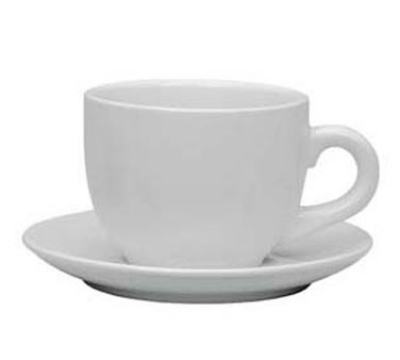 Update International TW-130SR Cappuccino Cup Saucer - (TW-130) White